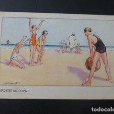 Postales: DEPORTES MODERNOS POSTAL HEMOSTYL PUBLICIDAD AÑOS 20. Lote 196287925