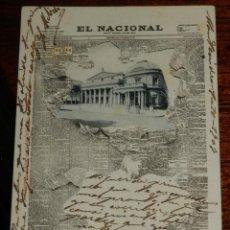 Postales: POSTAL DE PUBLICIDAD DE EL PERIODICO EL NACIONAL, TEATRO SOLIS, RECUERDO DE MONTEVIDEO, ED. J. OLIVE. Lote 196738310