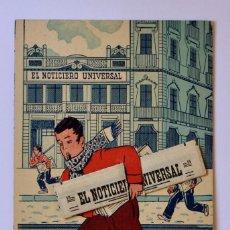 Cartes Postales: EL REPARTIDOR DE EL NOTICIERO UNIVERSAL POSTAL TROQUELADO CON PERIODICO 1942. Lote 196951398