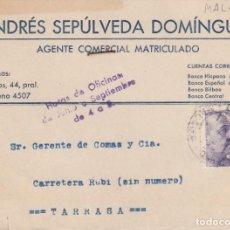 Postales: TARJETA POSTAL COMERCIAL DE ANDRÉS SEPÚLVEDA DOMINGUEZ EN MÁLAGA . Lote 198644848