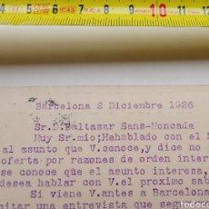 Postales: TARJETA POSTAL DE J. ALTÉS ÓPTICA VÍA LAYETANA Nº39 DE 1926. Lote 199103291