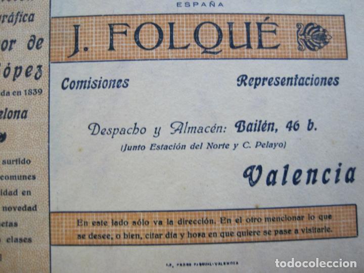 Postales: J.FOLQUE-BARCELONA-POSTAL PUBLICIDAD-FUNDICION TIPOGRAFICA-VER FOTOS-(69.188) - Foto 2 - 202348128