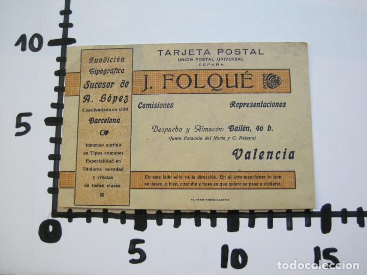 Postales: J.FOLQUE-BARCELONA-POSTAL PUBLICIDAD-FUNDICION TIPOGRAFICA-VER FOTOS-(69.188) - Foto 6 - 202348128