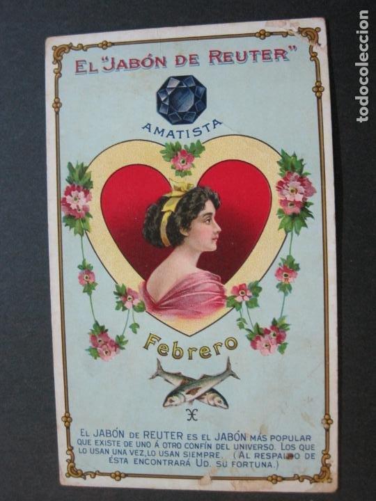 Postales: JABON DE REUTER-AMATISTA-TARJETA PUBLICIDAD ANTIGUA-VER FOTOS-(69.193) - Foto 2 - 202351170