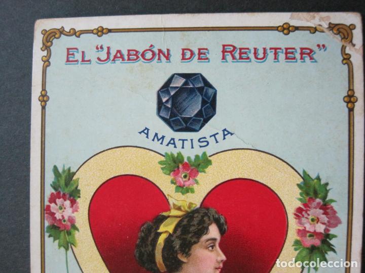 Postales: JABON DE REUTER-AMATISTA-TARJETA PUBLICIDAD ANTIGUA-VER FOTOS-(69.193) - Foto 3 - 202351170
