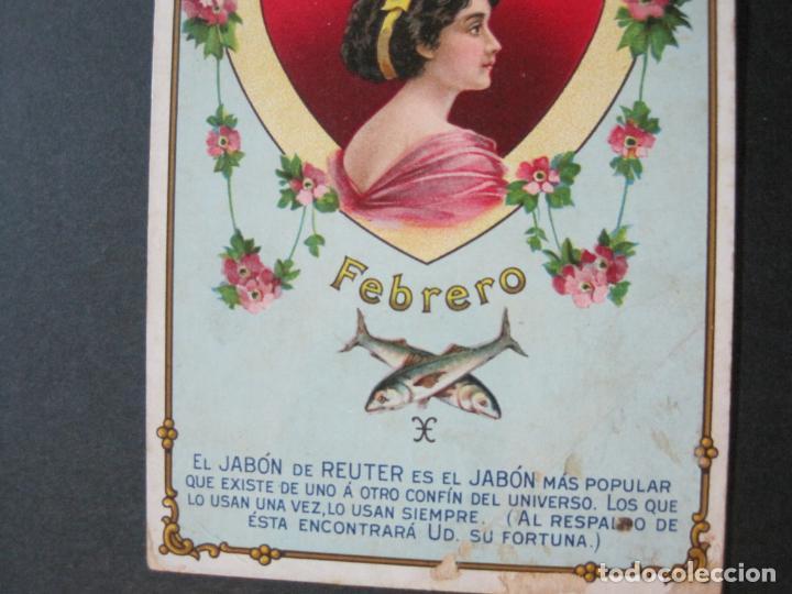 Postales: JABON DE REUTER-AMATISTA-TARJETA PUBLICIDAD ANTIGUA-VER FOTOS-(69.193) - Foto 4 - 202351170