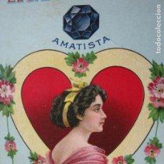 Postales: JABON DE REUTER-AMATISTA-TARJETA PUBLICIDAD ANTIGUA-VER FOTOS-(69.193). Lote 202351170