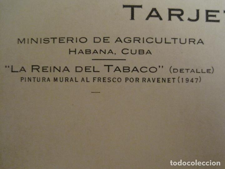 Postales: LA REINA DEL TABACO-MINISTERIO AGRICULTURA-LA HABANA-CUBA-POSTAL PUBLICIDAD ANTIGUA-(69.010) - Foto 4 - 202597411