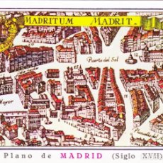 Cartes Postales: MADRID - MADRITUM MADRIT - PLANO SIGLO XVII - ODA PUERTA DEL SOL - CIRCULADA. Lote 203078263