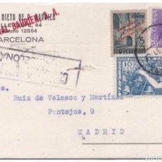 Postales: ESPAÑA PEDIDO DE LIBRERIA - HIJOS DE P. BAURIEN - BARCELONA CENSURA MILITAR. Lote 203336110