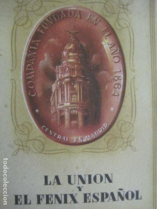Postales: PUBLICIDAD LA UNION Y EL FENIX ESPAÑOL-BLOC DE 11 POSTALES-FOTOS DE LAS SEDES-VER FOTOS-(V-20.075) - Foto 2 - 203398818