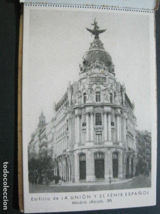 Postales: PUBLICIDAD LA UNION Y EL FENIX ESPAÑOL-BLOC DE 11 POSTALES-FOTOS DE LAS SEDES-VER FOTOS-(V-20.075) - Foto 8 - 203398818