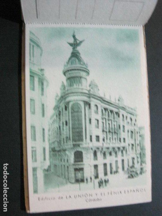 Postales: PUBLICIDAD LA UNION Y EL FENIX ESPAÑOL-BLOC DE 11 POSTALES-FOTOS DE LAS SEDES-VER FOTOS-(V-20.075) - Foto 11 - 203398818