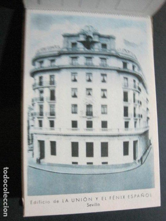 Postales: PUBLICIDAD LA UNION Y EL FENIX ESPAÑOL-BLOC DE 11 POSTALES-FOTOS DE LAS SEDES-VER FOTOS-(V-20.075) - Foto 13 - 203398818