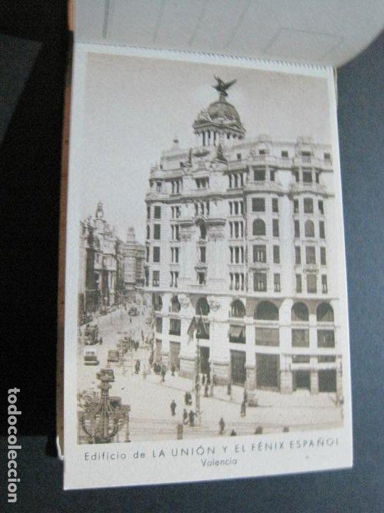 Postales: PUBLICIDAD LA UNION Y EL FENIX ESPAÑOL-BLOC DE 11 POSTALES-FOTOS DE LAS SEDES-VER FOTOS-(V-20.075) - Foto 14 - 203398818