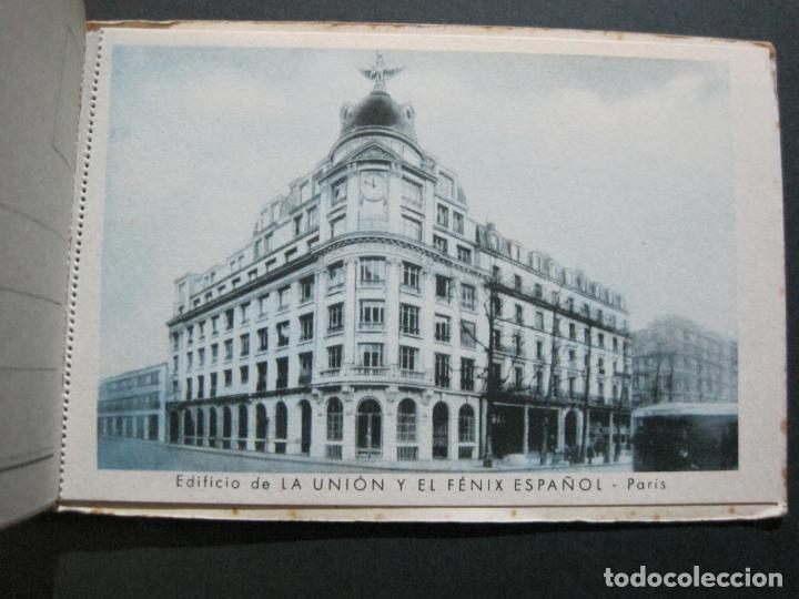 Postales: PUBLICIDAD LA UNION Y EL FENIX ESPAÑOL-BLOC DE 11 POSTALES-FOTOS DE LAS SEDES-VER FOTOS-(V-20.075) - Foto 17 - 203398818
