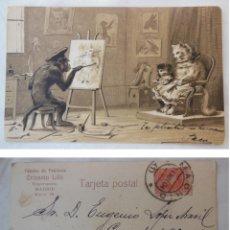 Postales: FÁBRICA DE PELETERIA CRISANTO LILLO, MADRID. 1904. Lote 203458887