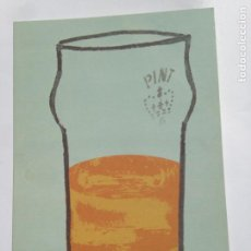 Postales: PINT OF BEER POSTCARD - POSTAL PINTA CERVEZA - ILUSTRATION BY ESP - FREE CARDS - UK. Lote 204606346