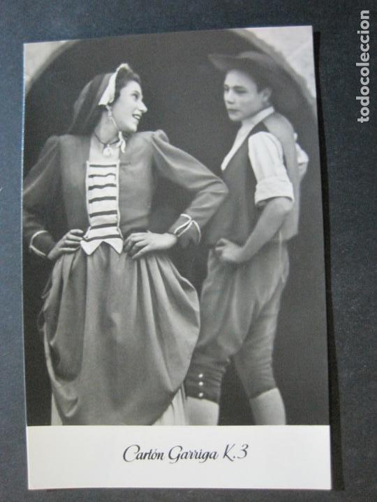 Postales: BAILE CATALAN-INFONAL-TARJETA PUBLICIDAD CARTON GARRIGA K.3-VER FOTOS-(70.117) - Foto 2 - 204691186