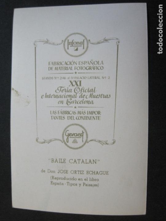 Postales: BAILE CATALAN-INFONAL-TARJETA PUBLICIDAD CARTON GARRIGA K.3-VER FOTOS-(70.117) - Foto 3 - 204691186