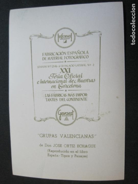 Postales: GRUPAS VALENCIANAS-TARJETA PUBLICIDAD CARTON GARRIGA K.3-VER FOTOS-(70.119) - Foto 3 - 204691315