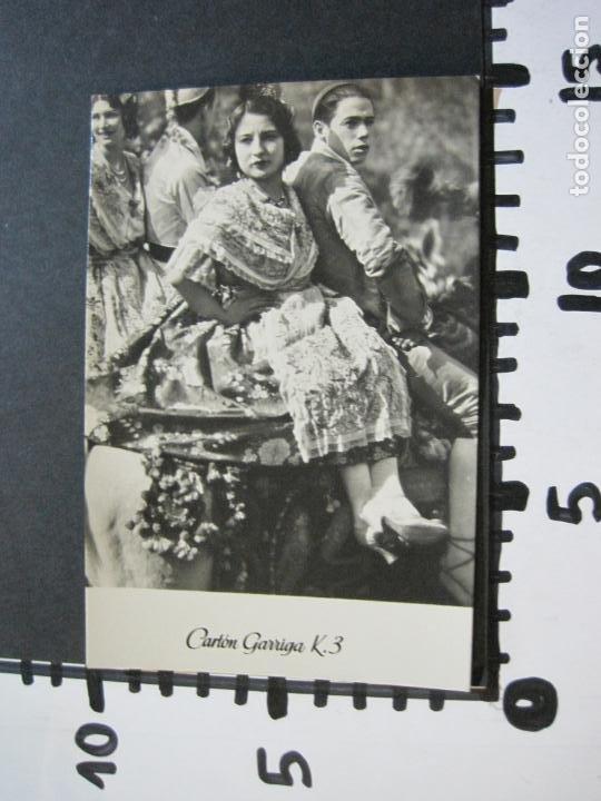 Postales: GRUPAS VALENCIANAS-TARJETA PUBLICIDAD CARTON GARRIGA K.3-VER FOTOS-(70.119) - Foto 4 - 204691315