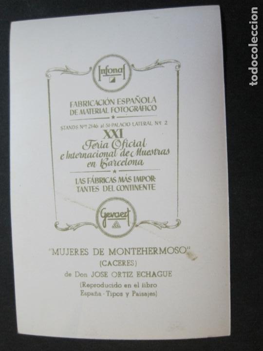 Postales: MUJERES DE MONTEHERMOSO-TARJETA PUBLICIDAD CARTON GARRIGA K.3-VER FOTOS-(70.121) - Foto 3 - 204691542