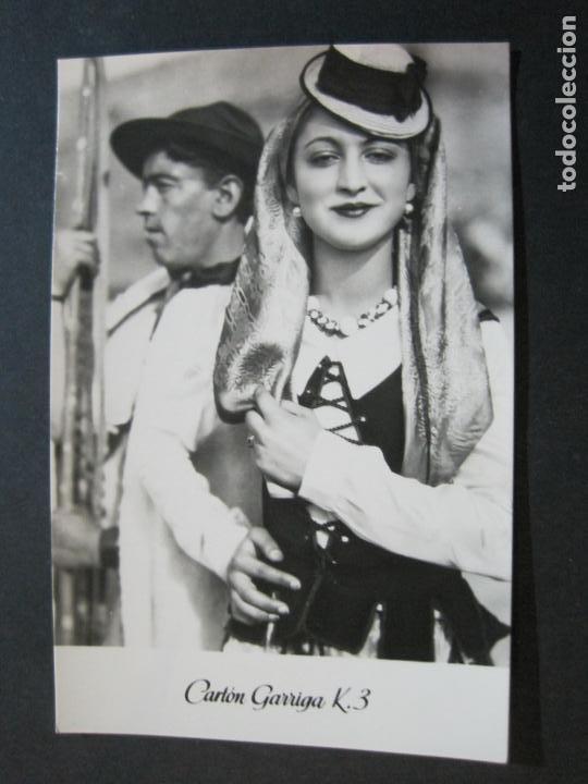 Postales: TIPOS DE TENERIFE-TARJETA PUBLICIDAD CARTON GARRIGA K.3-VER FOTOS-(70.123) - Foto 2 - 204691780