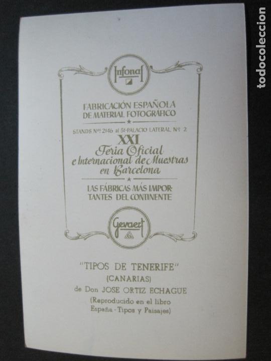 Postales: TIPOS DE TENERIFE-TARJETA PUBLICIDAD CARTON GARRIGA K.3-VER FOTOS-(70.123) - Foto 3 - 204691780
