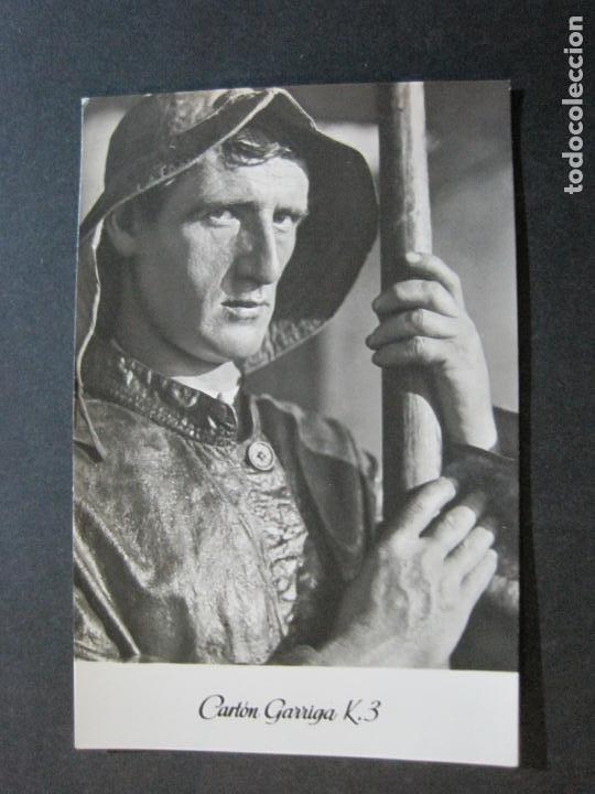 Postales: REMERO VASCO-TARJETA PUBLICIDAD CARTON GARRIGA K.3-VER FOTOS-(70.125) - Foto 2 - 204692000