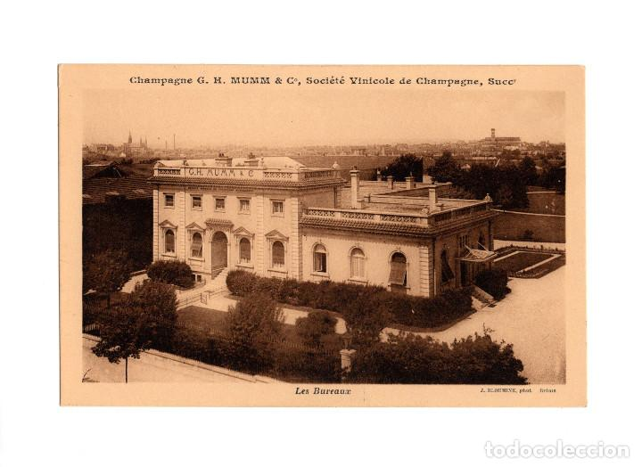 CHAMPAGNE G.H. MUMM & Cº. SOCIÉT´VINICOLE DE CHAMPAGNE. SOCIEDAD VINICOLA. LAS OFICINAS. (Postales - Postales Temáticas - Publicitarias)
