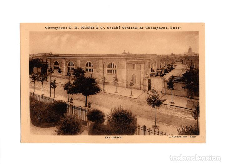 CHAMPAGNE G.H. MUMM & Cº. SOCIÉT´VINICOLE DE CHAMPAGNE. SOCIEDAD VINICOLA. LAS BODEGAS. (Postales - Postales Temáticas - Publicitarias)