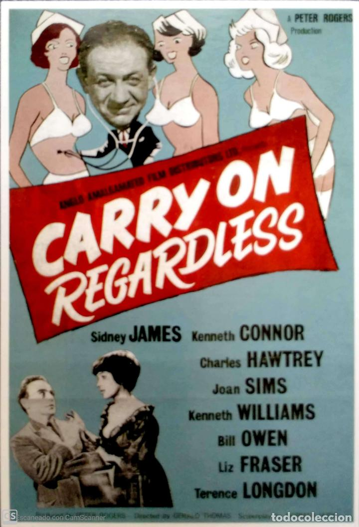 PELICULAS EN INGLÉS: CARRY ON REGARLESS. LONDON POSTCARD COMPANY. NUEVA. COLOR. (Postales - Postales Temáticas - Publicitarias)