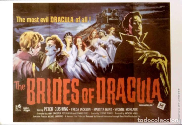 PELICULAS EN INGLÉS: THE BRIDES OF DRACULA 1960. LONDON POSTCARD COMPANY. NUEVA. COLOR. (Postales - Postales Temáticas - Publicitarias)