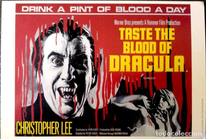 PELICULAS EN INGLÉS: TASTE THE BLOOD OF DRACULA 1970. LONDON POSTCARD COMPANY. NUEVA. COLOR. (Postales - Postales Temáticas - Publicitarias)