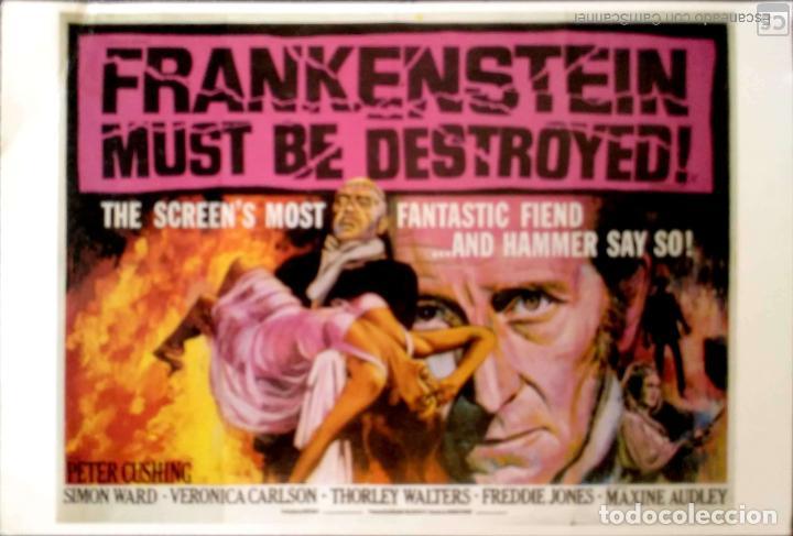 PELICULAS EN INGLÉS: FRANKKENSTEIN MUST BE DESTROYED 1969. LONDON POSTCARD COMPANY. NUEVA. COLOR. (Postales - Postales Temáticas - Publicitarias)