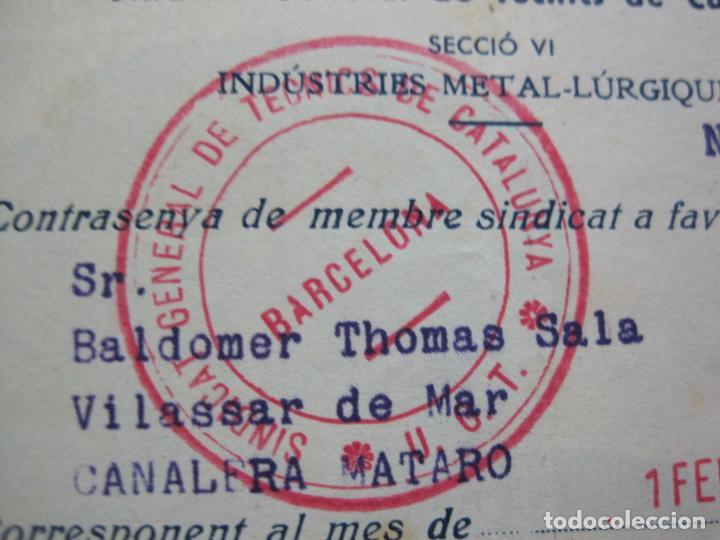 Postales: GUERRA CIVIL-SINDICAT GENERAL DE TECNICS DE CATALUNYA-U.G.T.-CARNET CONTRASENYA-VER FOTOS-(71.059) - Foto 3 - 206924866