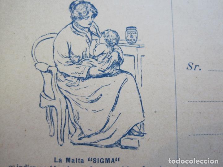 Postales: FARMACIA-MALTA SIGMA-BLANDO Y EN POLVO-BARCELONA-POSTAL PUBLICIDAD ANTIGUA-(71.168) - Foto 3 - 207027535