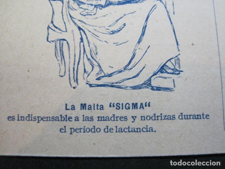 Postales: FARMACIA-MALTA SIGMA-BLANDO Y EN POLVO-BARCELONA-POSTAL PUBLICIDAD ANTIGUA-(71.168) - Foto 4 - 207027535