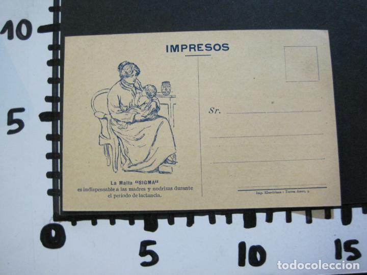 Postales: FARMACIA-MALTA SIGMA-BLANDO Y EN POLVO-BARCELONA-POSTAL PUBLICIDAD ANTIGUA-(71.168) - Foto 8 - 207027535