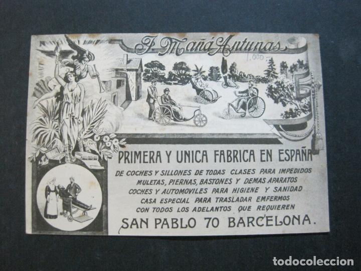 Postales: BARCELONA-J.MAÑA ANTUNAS FABRICA DE COCHES Y SILLONES-PUBLICIDAD ANTIGUA-(71.176) - Foto 7 - 207031632