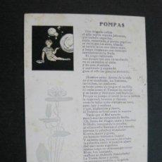 Postales: POESIA POMPAS-ERNESTO JAUMEANDREU OPISSO-BARCELONA 1924-POSTAL ANTIGUA-(71.227). Lote 207114423