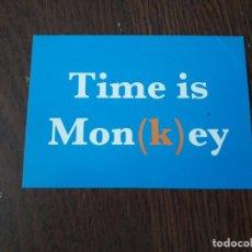 Postales: POSTAL DE PUBLICIDAD EXTRANJERA, TIME IS MON(K)EY. Lote 207242455