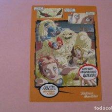 Postales: POSTAL PUBLICIDAD. MOVISTAR. TEBEO CÓMIC. POSTALFREE.. Lote 207274236