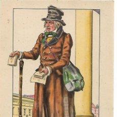 Postales: POSTAL LE MARCHAND D´ALMANACHS EXPOSICION UNIVERSAL INTERNACIONAL BRUSELAS AÑO 1935. Lote 207776671