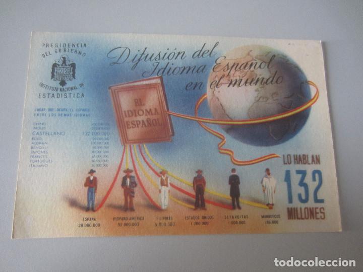 POSTAL DIFUSION ESPAÑOL EN EL MUNDO ESTADISTICA (Postales - Postales Temáticas - Publicitarias)