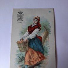 Postales: CHOCOLATES BOIX BARCELONA TIPOS LUGO M.PUJADAS. Lote 210215890