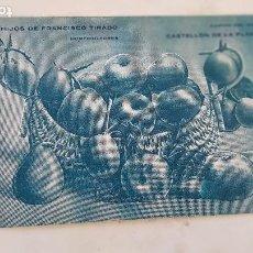 Postales: CASTELLON FRANCISCO TIRADO HORTICULTOR. Lote 210491785