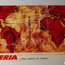 Postales: IBERIA/ MDPA DE RUTAS/ SIN CIRCULAR/ (REF.B.18). Lote 210520896