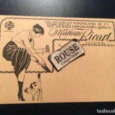 Postales: ANTIGUA POSTAL PUBLICITARIA ''OMNIA'' MANUFACTURA DE ESPECIALIDADES QUIMICAS MARIANO RICART. Lote 210592126